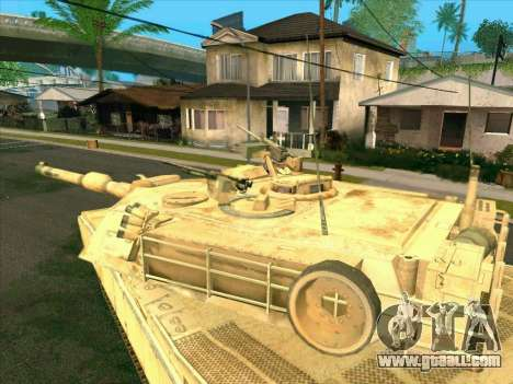 M1A2 Abrams of COD4: MW for GTA San Andreas back left view