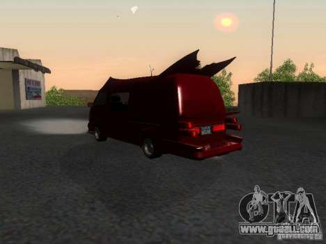 Toyota Hiace Vanning for GTA San Andreas back left view