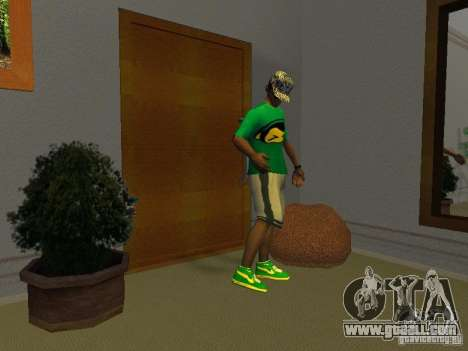 New green running shoes for GTA San Andreas second screenshot