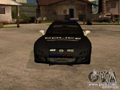 Mazda RX-7 Police for GTA San Andreas