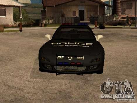 Mazda RX-7 Police for GTA San Andreas back view