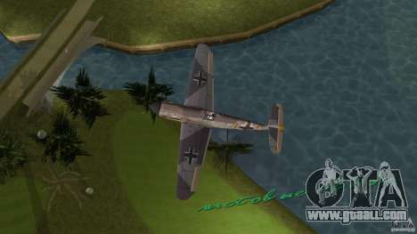 WW2 War Bomber for GTA Vice City back left view
