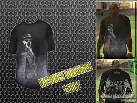 Watchmen Rorschach Shirt for GTA San Andreas
