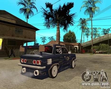 ZAZ-968 m STREET tune for GTA San Andreas back left view