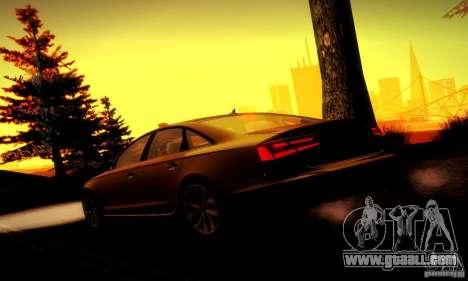 Audi A6 2012 for GTA San Andreas wheels