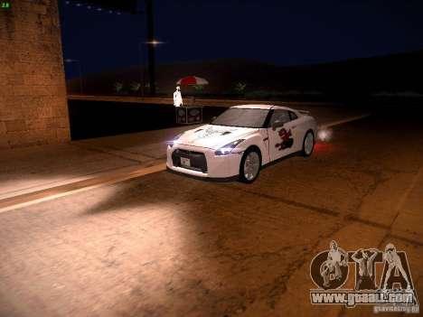 Nissan GT-R for GTA San Andreas wheels
