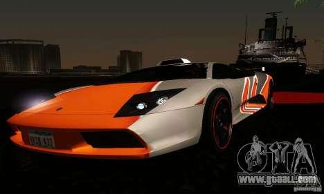 Lamborghini Murcielago for GTA San Andreas interior