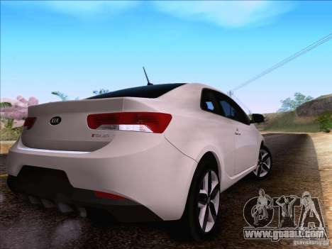 Kia Forte Koup SX for GTA San Andreas back view