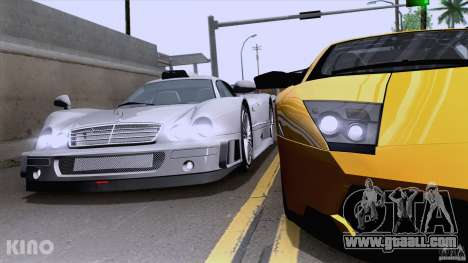 Mercedes-Benz CLK GTR Road Carbon Spoiler for GTA San Andreas right view