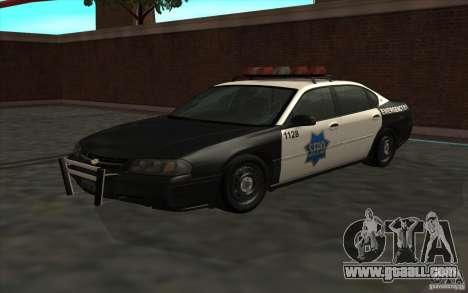 Chevrolet Impala 2003 SFPD for GTA San Andreas