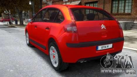 Citroen C4 for GTA 4 back left view