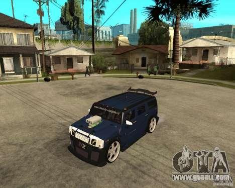 AMG H2 HUMMER Jvt HARD exclusive TUNING for GTA San Andreas