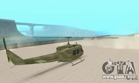 UH-1 Iroquois (Huey) for GTA San Andreas left view