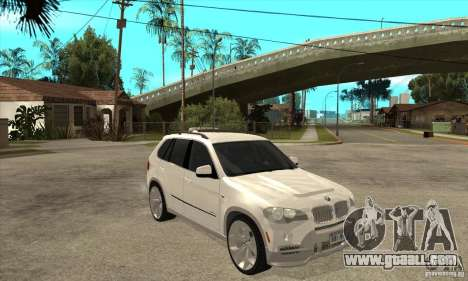 BMW X5 E70 Tuned for GTA San Andreas back view