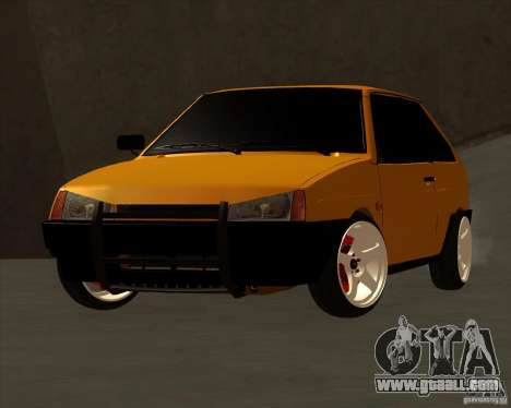 VAZ 2108 (version with white discs) for GTA San Andreas back left view