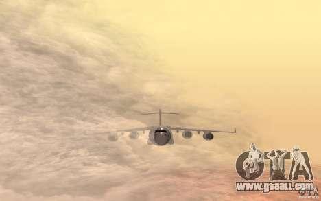 C-17 Globemaster III for GTA San Andreas back left view