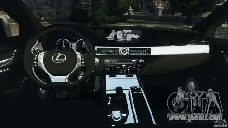Lexus GS350 2013 v1.0 for GTA 4 back view