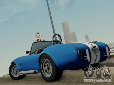 Shelby Cobra 427 for GTA San Andreas back left view