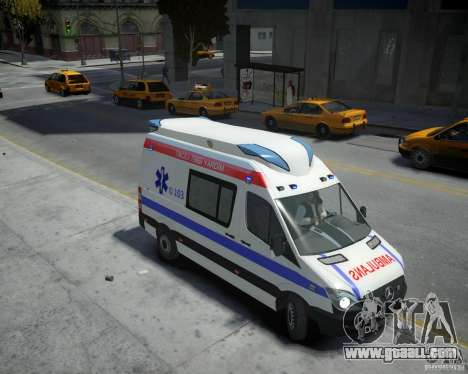 Mercedes-Benz Sprinter Azerbaijan Ambulance v0.2 for GTA 4 right view