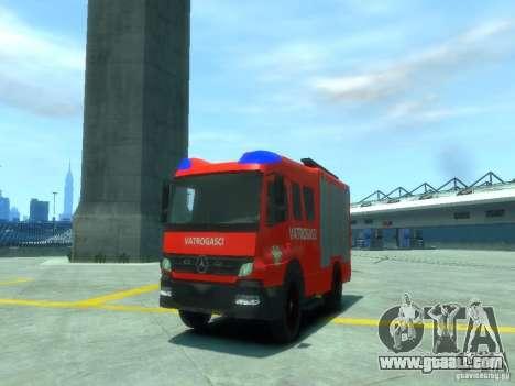 Mercedes-Benz Atego Fire Departament for GTA 4