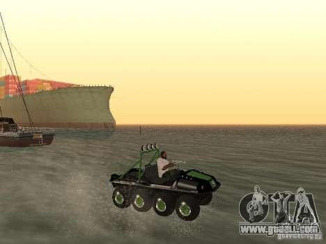 All-Terrain Vehicle Argo Avenger for GTA San Andreas inner view