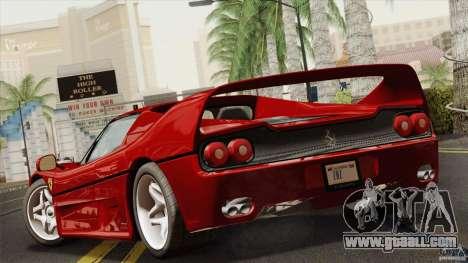 Ferrari F50 v1.0.0 Road Version for GTA San Andreas left view