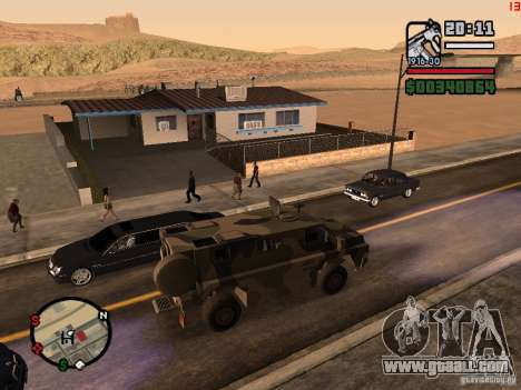 Australian Bushmaster for GTA San Andreas left view