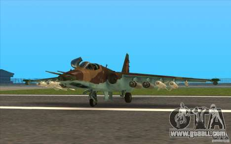 The Su-25 for GTA San Andreas left view