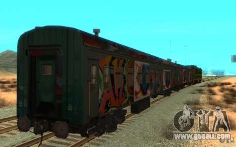 New Graffity Train for GTA San Andreas back left view