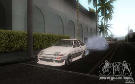Toyota Sprinter Trueno AE86 Drift spec for GTA San Andreas left view