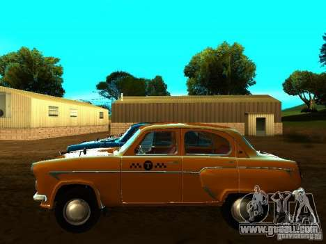 Moskvich 403 Taxi for GTA San Andreas left view