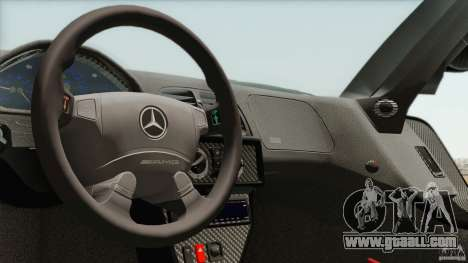 Mercedes-Benz CLK GTR Race Car for GTA San Andreas inner view