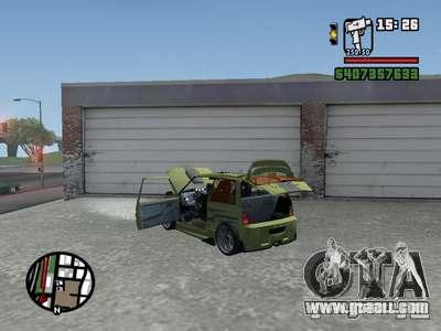 1111 OKA (tuning) for GTA San Andreas back left view