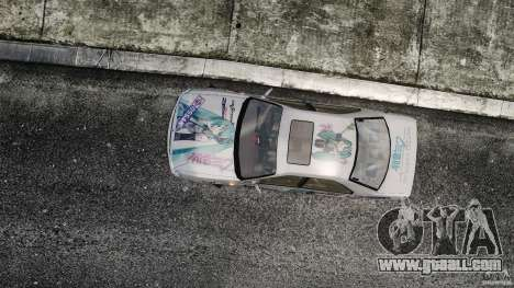 Nissan Laurel GC35 Itasha for GTA 4 right view