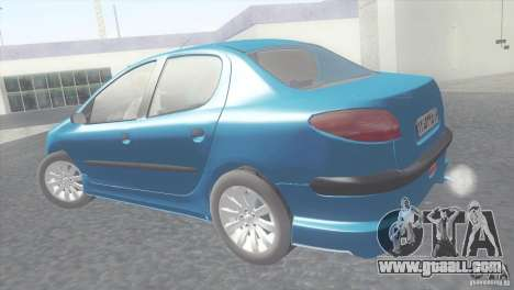 Peugeot 206 SD Iranian for GTA San Andreas left view