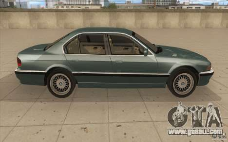 BMW 750iL 1995 for GTA San Andreas inner view