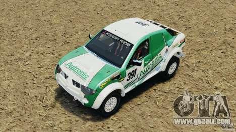 Mitsubishi L200 Triton for GTA 4 side view