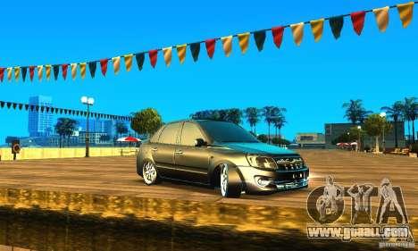 Lada Granta v2.0 for GTA San Andreas left view