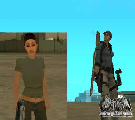 Pak characters from Resident Evil for GTA San Andreas forth screenshot