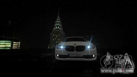 BMW GT F07 2012 GranTurismo for GTA 4 upper view