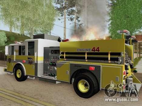 Seagrave Marauder II BCFD Engine 44 for GTA San Andreas engine