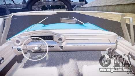 Cadillac Eldorado 1959 interior white for GTA 4 bottom view