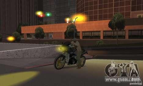 Yellow headlights for GTA San Andreas forth screenshot