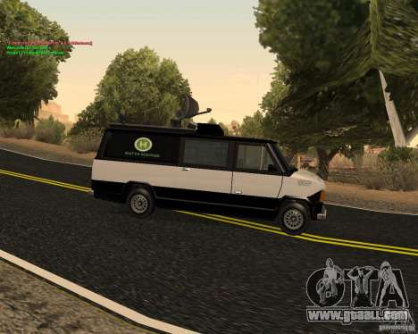 New News Van for GTA San Andreas left view