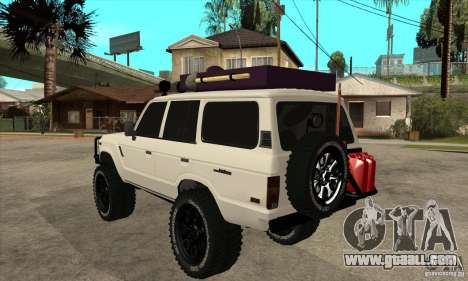 Toyota Land Cruiser 70 1993 Off Road Samurai for GTA San Andreas back left view