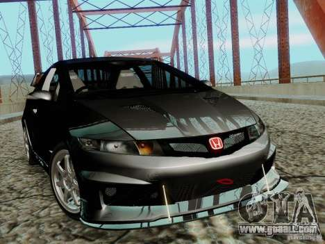 Honda Civic TypeR Mugen 2010 for GTA San Andreas back left view