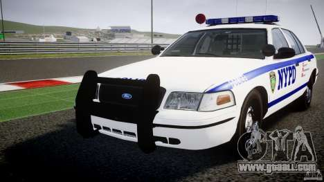 Ford Crown Victoria NYPD [ELS] for GTA 4 upper view