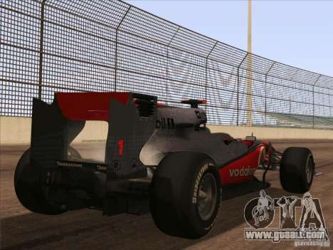 McLaren MP4-25 F1 for GTA San Andreas left view