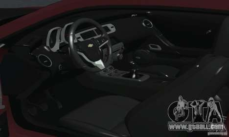 Chevrolet Camaro ZL1 2012 for GTA San Andreas upper view
