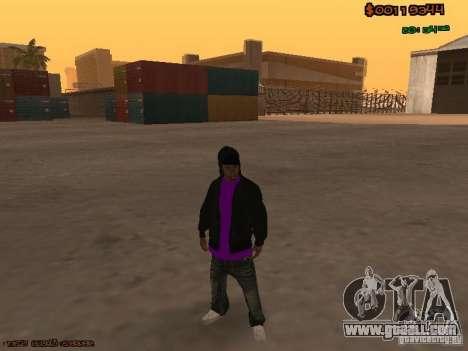 Ballas skins for GTA San Andreas third screenshot